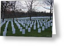 Eagle Point National Cemetery In Winter 1 Greeting Card