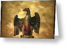 Eagle Sculpture Greeting Card by Bernard Jaubert
