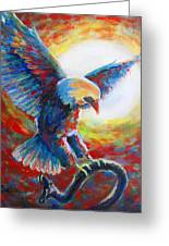 Eagle Takes Charge Greeting Card