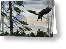 Eagle Wilderness Greeting Card