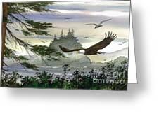 Eagles Flight Greeting Card