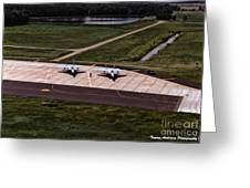 Eagles On The Ramp Greeting Card