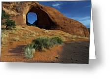 Ear Of The Wind Arch Greeting Card