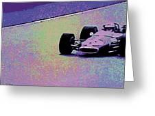 Early 60's Era Formula 1 Race Greeting Card