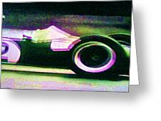 Early 60's F1 Racer Greeting Card