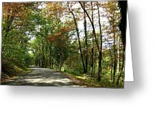Early Autumn Drive Greeting Card