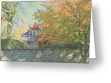 Early Autumn Home Greeting Card