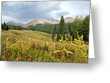 Early Autumn In The San Juans -  Mount Wilson And Wilson Peak Greeting Card