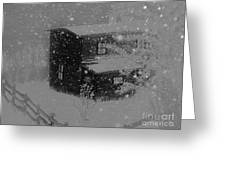 Early Blizzard At The Old Homestead Greeting Card