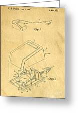 Early Computer Mouse Patent Yellowed Paper Greeting Card