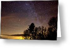 Early Evening Milky Way Greeting Card by Steven Valkenberg