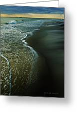 Early Evening Surf Greeting Card