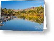 Early Fall On The Payette Greeting Card by Robert Bales