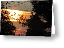 Early Feb 9 2013 Sunset Greeting Card