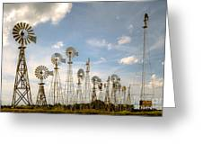 Early Model Wind Farm Greeting Card