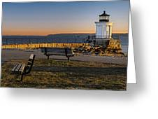 Early Morning At Bug Lighthouse Greeting Card
