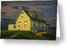 Early Morning At Peggys Cove In Nova Scotia Canada Greeting Card