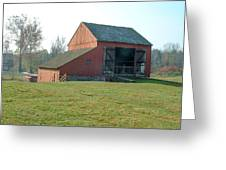 Early Morning Barn Greeting Card