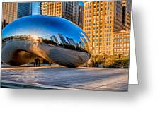 Early Morning Bean In Chicago Greeting Card