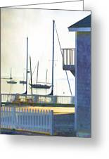 Early Morning Camden Harbor Maine Greeting Card