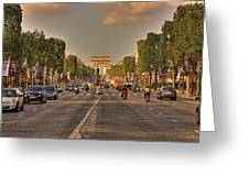 Early Morning Champes Elysees  Greeting Card