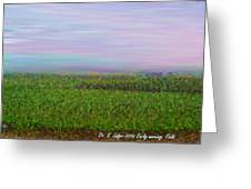 Early Morning. Field Greeting Card