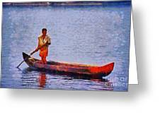 Early Morning Fishing In India Greeting Card