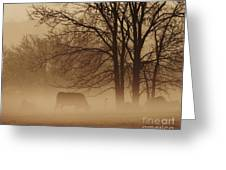 Early Morning Fog 002 Greeting Card