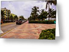 Early Morning In Miami Beach Greeting Card
