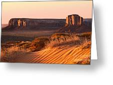 Early Morning In Monument Valley Greeting Card