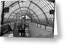 Early Morning In Station Sloterdijk In Amsterdam Greeting Card