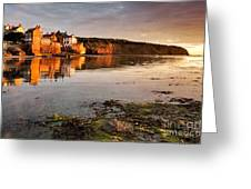 Early Morning Light On Robin Hoods Bay Greeting Card
