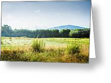 Early Morning Mist In The Valleys And Farmlands Of The Blue Ridge Mountains Greeting Card