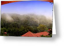 Early Morning Mist Over The Rain Forest Greeting Card