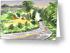 Early Morning Out Route Jj Greeting Card