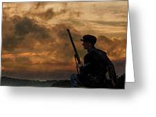 Early Morning Picket Duty Union Soldier Greeting Card