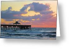 Early Morning Pier Greeting Card