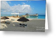 Early Morning Shade On A Tropical Beach   Greeting Card