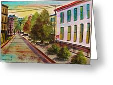 Early Morning Side Street  Greeting Card
