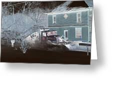 Early Morning Snow Plow Greeting Card