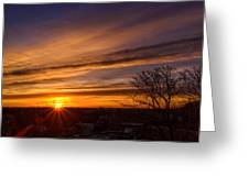 Early Morning Star Greeting Card