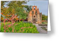 Early Morning Sun Caressing Mission Espada Greeting Card