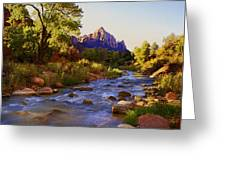 Early Morning Sunrise Zion N.p. Greeting Card