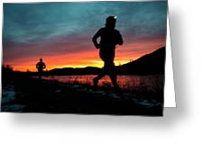 Early Morning Trail Running Greeting Card