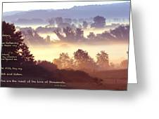 Early Morning Walk Photo With Quote- Brooklyn Ice Age Trail Greeting Card