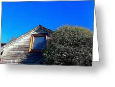Early Noon Moon Greeting Card
