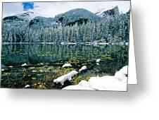 Early Snow At Nymph Lake Greeting Card