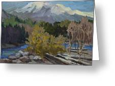 Early Snow Cascade Mountains Greeting Card