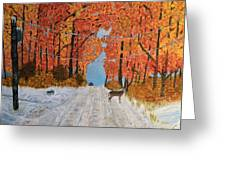 Early Snow Greeting Card