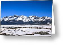 Early Spring In The Sawtooth Greeting Card